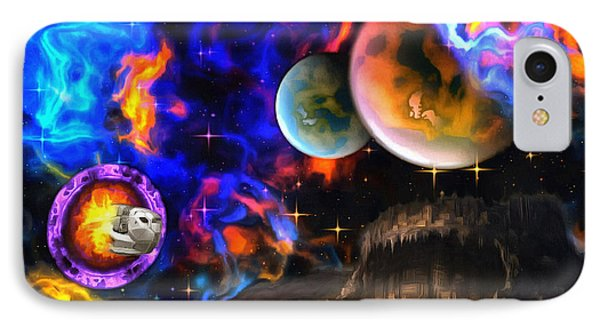 Hyperactivity Sector X66 In The Andromeda Gallaxy IPhone Case by Mario Carini