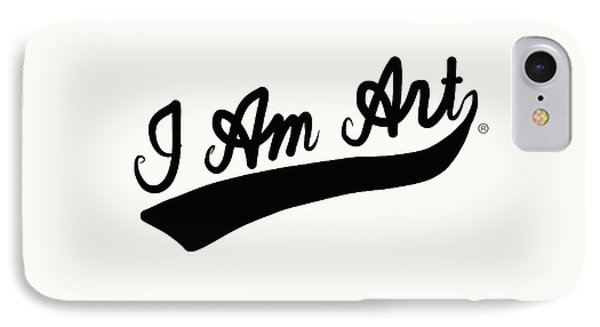 I Am Art Swoosh Black- Art By Linda Woods IPhone Case by Linda Woods