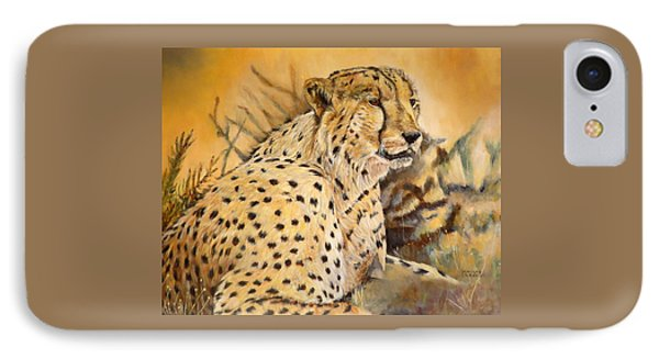 I Am Cheetah IPhone Case by Marilyn  McNish