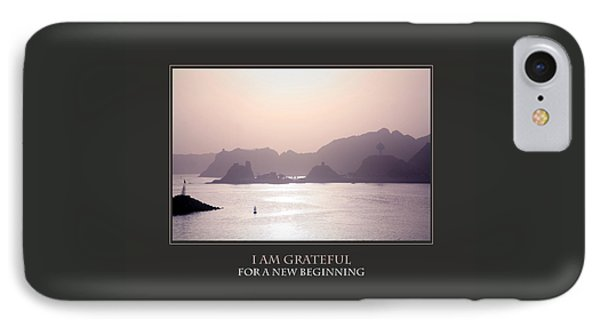I Am Grateful For A New Beginning Phone Case by Donna Corless