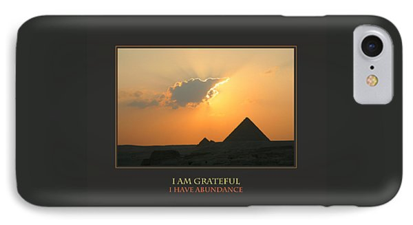 I Am Grateful I Have Abundance IPhone Case by Donna Corless