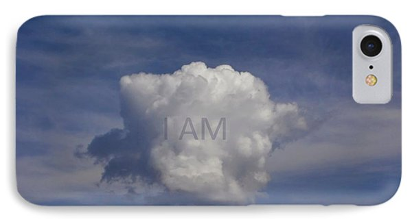 IPhone Case featuring the photograph I Am One Cloud Affirmation by Deborah Moen