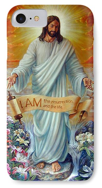 I Am The Resurrection Phone Case by John Lautermilch