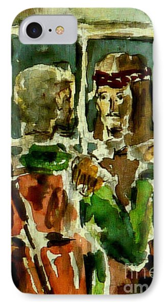 IPhone Case featuring the painting I Am The Way by Alfred Motzer