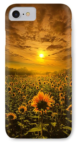 I Believe In New Beginnings IPhone Case by Phil Koch