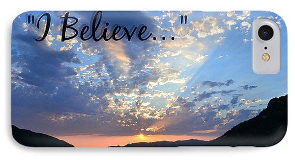 I Believe IPhone Case by Sharon Soberon