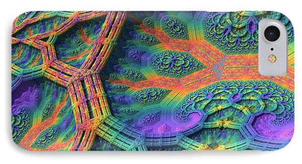 IPhone Case featuring the digital art I Don't Do Drugs, Just Fractals by Lyle Hatch