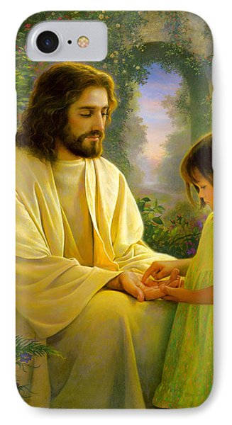I Feel My Savior's Love IPhone Case by Greg Olsen