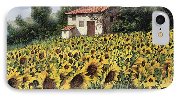 I Girasoli Nel Campo IPhone Case by Guido Borelli