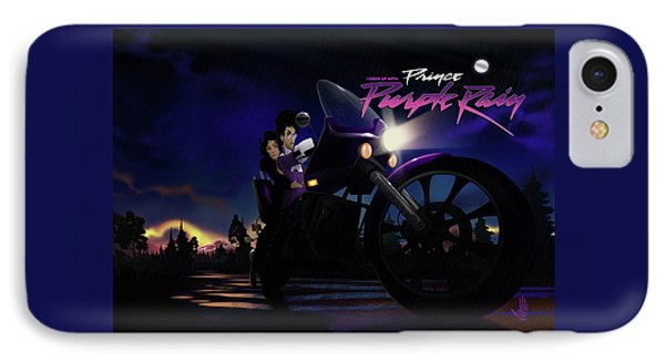 IPhone Case featuring the digital art I Grew Up With Purplerain 2 by Nelson dedos Garcia