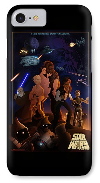 IPhone Case featuring the digital art I Grew Up With Starwars by Nelson Dedos  Garcia