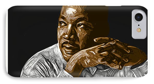 IPhone Case featuring the digital art I Have A Dream . . . by Antonio Romero