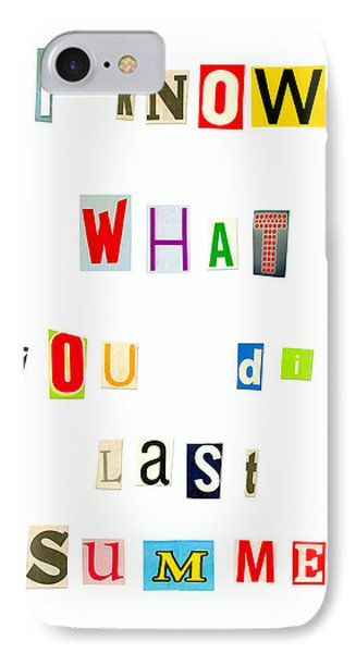 I Know What You Did Last Summer - Pa IPhone Case by Leonardo Digenio