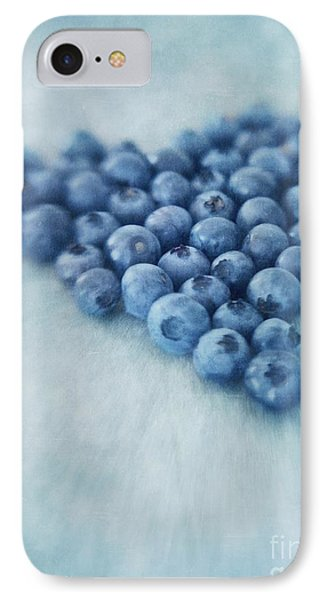 I Love Blueberries IPhone 7 Case by Priska Wettstein