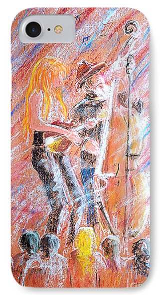IPhone Case featuring the painting I Love Bluegrass by Bill Holkham