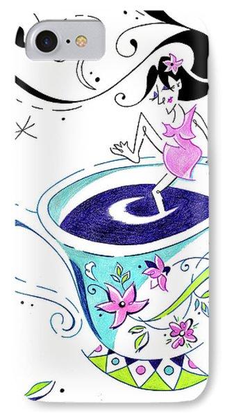I Love Coffee - Art Book Illustration IPhone Case by Arte Venezia