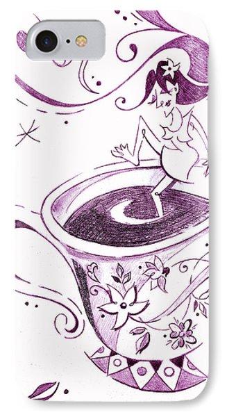 I Love Coffee Illustration - Arte Caffe IPhone Case by Arte Venezia