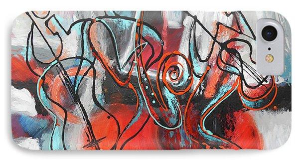 I Love Jazz IPhone Case by Leon Zernitsky