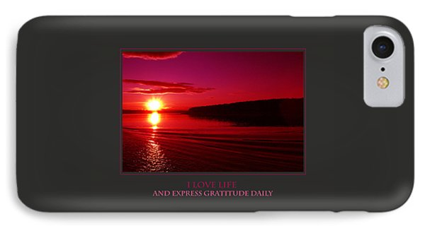 I Love Life And Express Gratitude Daily IPhone Case by Donna Corless