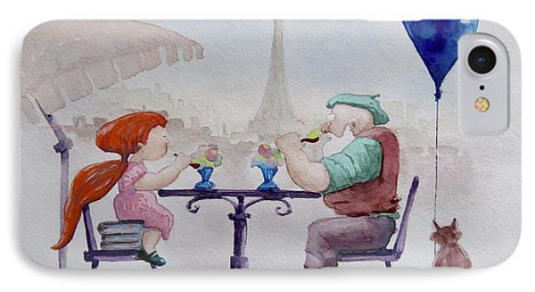 I Love Paris Grandpa IPhone Case by Geni Gorani