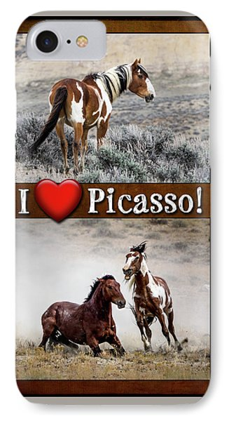 I Love Picasso Collage IPhone Case by Nadja Rider