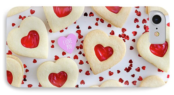 IPhone Case featuring the photograph I Love You Heart Cookies by Teri Virbickis