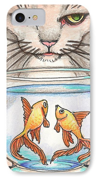 I Loves Fishes Phone Case by Amy S Turner