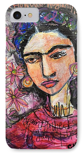 I Paint Flowers So They Will Not Die Phone Case by Laurie Maves ART
