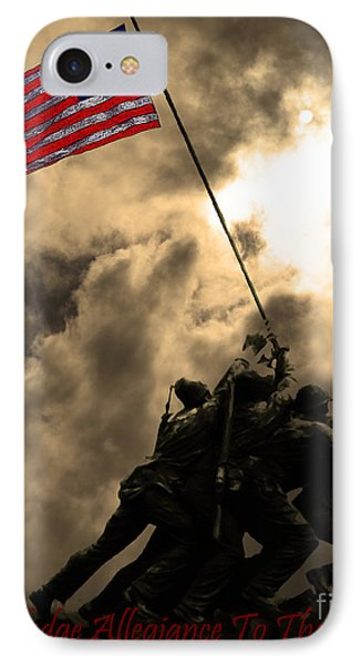 I Pledge Allegiance To The Flag - Iwo Jima 20130211v2 IPhone Case