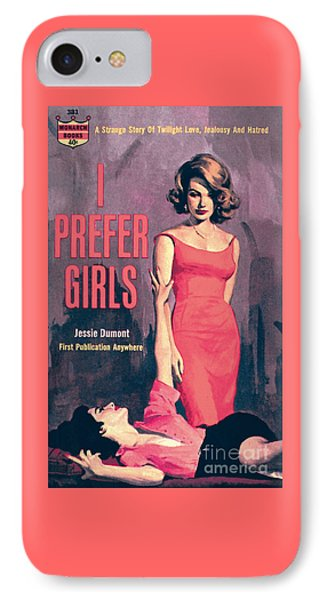 IPhone Case featuring the painting I Prefer Girls by Robert Maguire