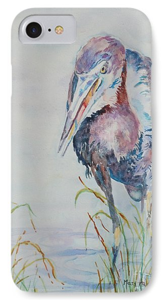IPhone Case featuring the painting I See Lunch by Mary Haley-Rocks