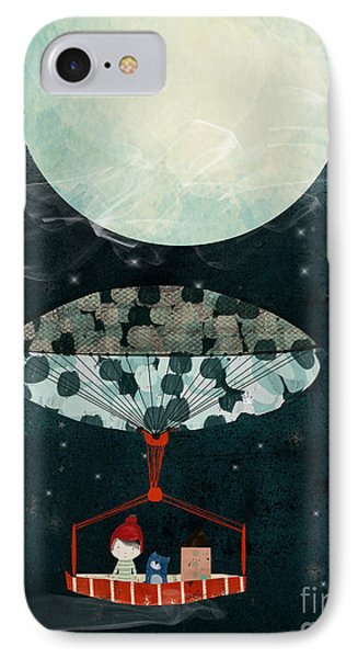 IPhone Case featuring the painting I See The Moon Too by Bri B