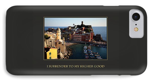 I Surrender To My Higher Good Phone Case by Donna Corless
