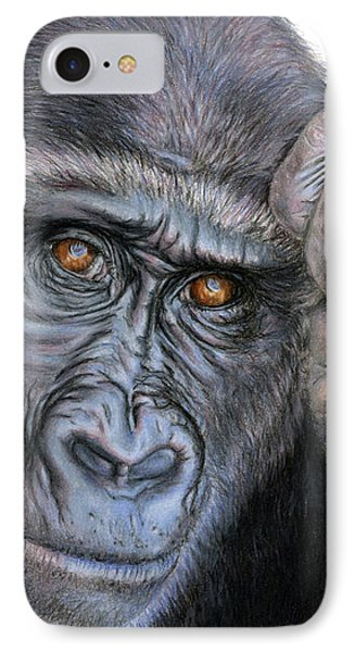 Ape iPhone 7 Case - I Think Therefore I Am by Sarah Batalka
