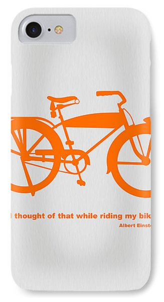I Thought Of That While Riding My Bike IPhone Case by Naxart Studio
