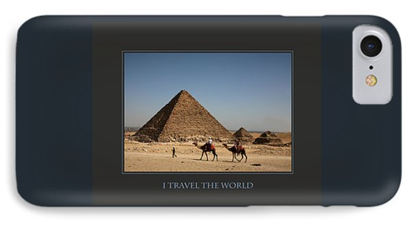 I Travel The World Cairo IPhone Case by Donna Corless