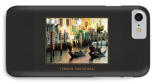 I Travel The World Venice IPhone Case by Donna Corless