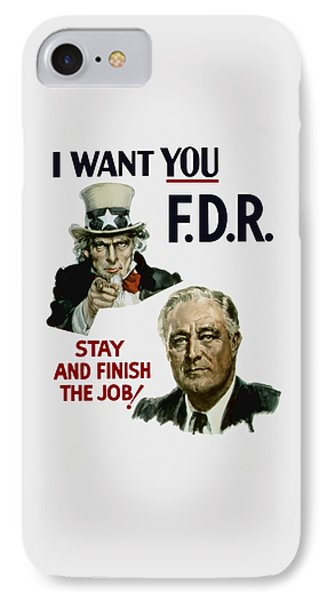 I Want You Fdr  Phone Case by War Is Hell Store