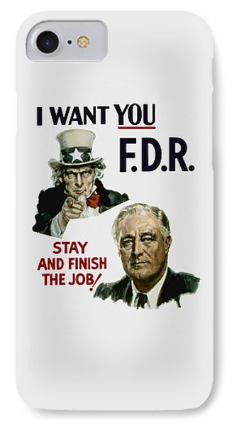 I Want You Fdr  IPhone Case
