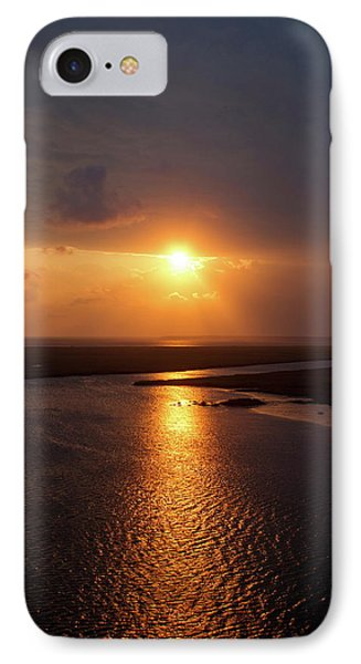 I Will Be Back Jekyll Island Sunset Art  IPhone Case by Reid Callaway