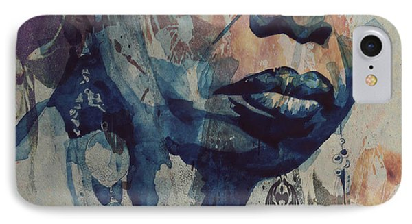 Rhythm And Blues iPhone 7 Case - I Wish I Knew How It Would Be  Feel To Be Free by Paul Lovering