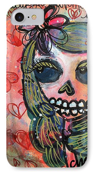IPhone Case featuring the painting I Would Like You To Love Me by Laurie Maves ART