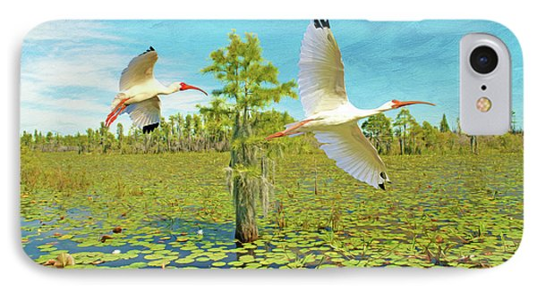 Ibis iPhone 7 Case - Ibis At Okefenokee by Laura D Young