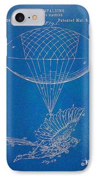 Icarus Airborn Patent Artwork IPhone Case by Nikki Marie Smith