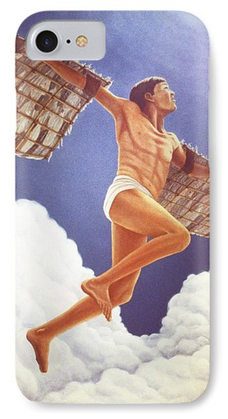 IPhone Case featuring the painting Icarus Ascending by Laurie Stewart
