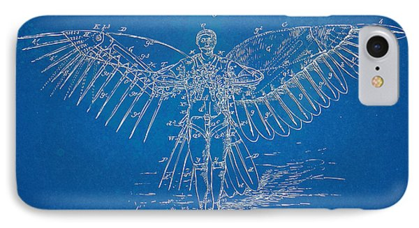Icarus Flying Machine Patent Artwork IPhone Case by Nikki Marie Smith