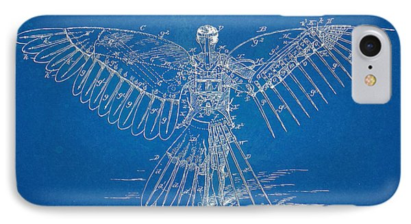 Icarus Human Flight Patent Artwork IPhone Case by Nikki Marie Smith