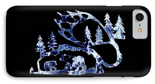 Ice Bears 1 IPhone Case by Larry Campbell
