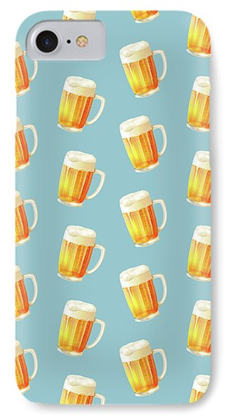 Ice Cold Beer Pattern IPhone 7 Case by Little Bunny Sunshine