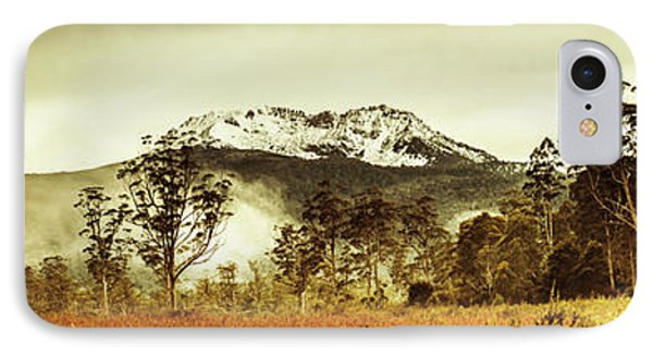 Ice Covered Mountain Panorama In Tasmania IPhone Case by Jorgo Photography - Wall Art Gallery
